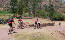 Biking in Cajamarca